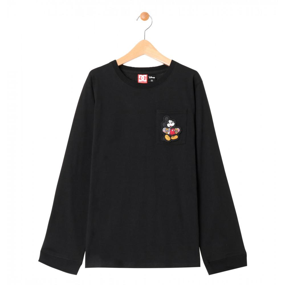 キッズ Tシャツ 長袖 ミッキー ディズニー ポケット クルーネック19 KD MICKEY HAS BOARD POCKET LS
