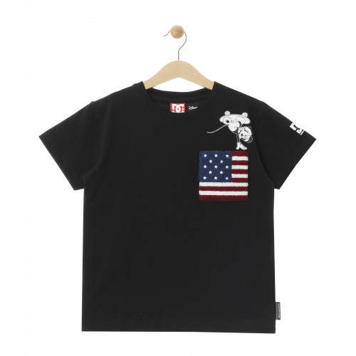 【OUTLET】ディズニー ミッキー キッズ 100-160cm Tシャツ 半袖 レギュラーシルエット 20 KD DISNEY FLAG ON MICKEY SS